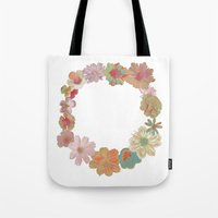 Halftone Flower Ring Tote Bag