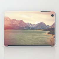 Retro Mountain Lake iPad Case