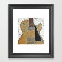 Les Paul Guitar Framed Art Print