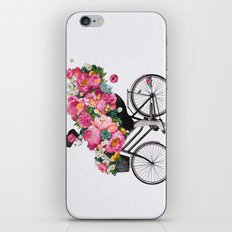 floral bicycle  iPhone & iPod Skin