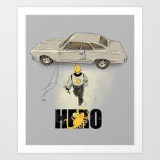 Real Hero Art Print