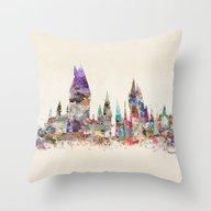 Hogwarts School Of Magic Throw Pillow