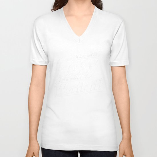 It may not be easy... V-neck T-shirt