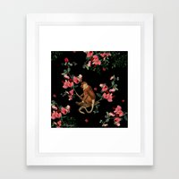 Monkey World: Nosy Framed Art Print