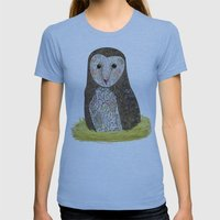 Barn Owl Womens Fitted Tee Athletic Blue SMALL