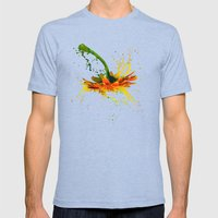 Liquid Daisy Mens Fitted Tee Tri-Blue SMALL