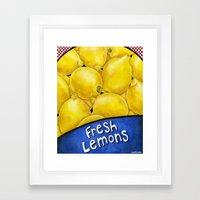 Fresh Lemons Framed Art Print