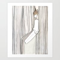 She Fell Through The Sky Art Print
