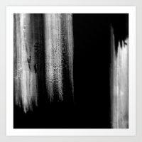 Black And White Brush St… Art Print