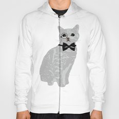 Wise cat with bow and tie Hoody
