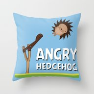 Angry Hedgehog Throw Pillow