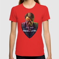 Famous Last Words Womens Fitted Tee Red SMALL