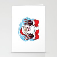 Santa Claws Stationery Cards