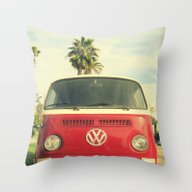 Throw Pillow featuring VW Coastin' by RichCaspian