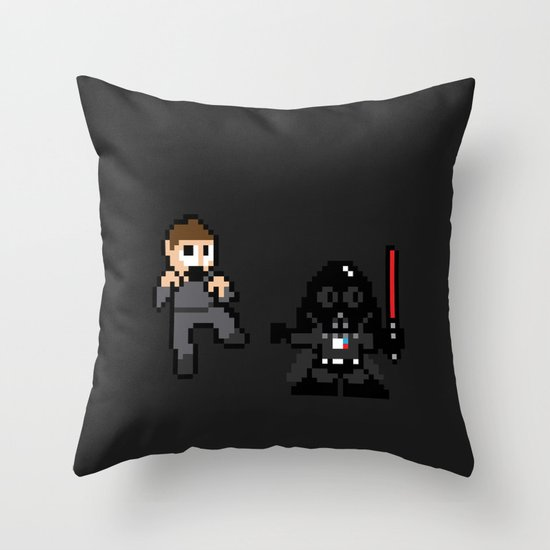 Pixel Wars Throw Pillow