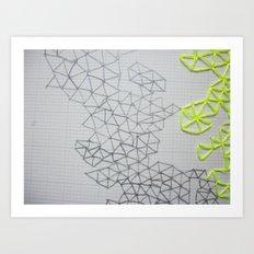 Neon Geometric Art Print