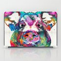 Colorful Pig Art - Squeal Appeal - By Sharon Cummings iPad Case