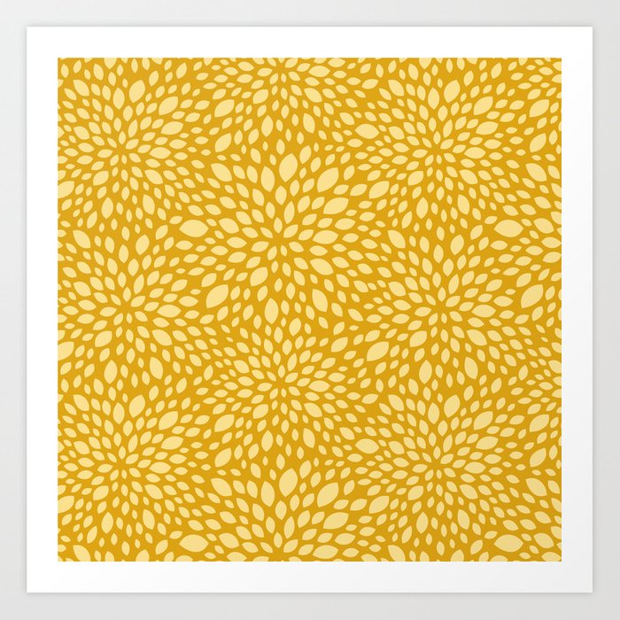 Sunday's Society6   Yellow-gold summer floral pattern