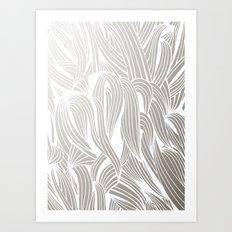 Silver & White Art Print