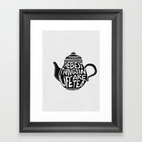 Best Things In Life Are … Framed Art Print