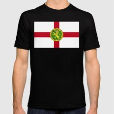 Alderney Flag SMALL Mens Fitted Tee Black