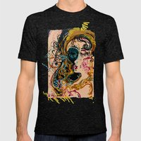 danae and shower of gold Mens Fitted Tee Tri-Black SMALL