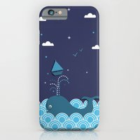 iPhone & iPod Case featuring Ahab and the Whale by Matt Andrews