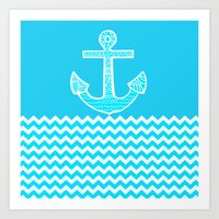 anchor Art Prints featuring Anchor by haroulita
