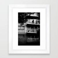 Balconies Framed Art Print