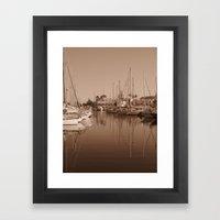 The Harbour II Framed Art Print