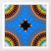 Abstract Blue Mandala Pa… Art Print