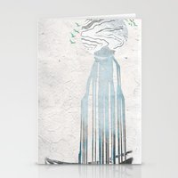 Moon Spring Fall Stationery Cards