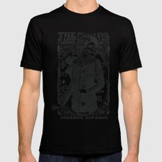 The evil plague SMALL Black Mens Fitted Tee