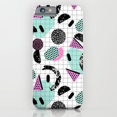 Joshin - memphis throwback retro pop art geoemetric pattern print unique trendy gifts dorm college iPhone 6 Slim Case