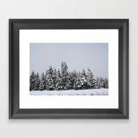 White Forest Framed Art Print