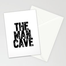 The Man Cave (black text on white) Stationery Cards