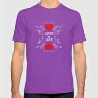 Loved To Love Mens Fitted Tee Ultraviolet SMALL
