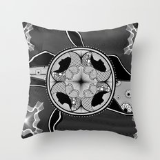 Circls n silhouetts Throw Pillow