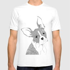 French Bulldog SMALL Mens Fitted Tee White