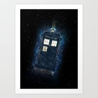Totally And Radically Driving In Space Art Print