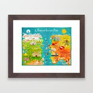 Game Of Thrones: A Map O… Framed Art Print