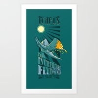 Icarus, The Incredible Flying Man Art Print