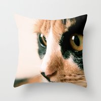 Thinking Cat Throw Pillow