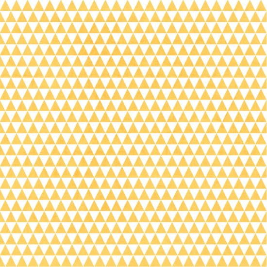triangles - yellow and white Art Print