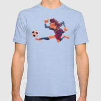 Lionel Messi, Barcelona … Mens Fitted Tee Tri-Blue SMALL