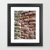 Brick Wall, Coral, St. Thomas, USVI Framed Art Print