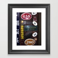Italien Name Plates 2 Framed Art Print