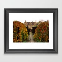 Barnsley House In Autumn Framed Art Print