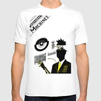 Human Machines Mens Fitted Tee White SMALL
