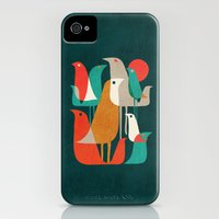 iPhone 4s & iPhone 4 Cases featuring Flock of Birds by Budi Kwan